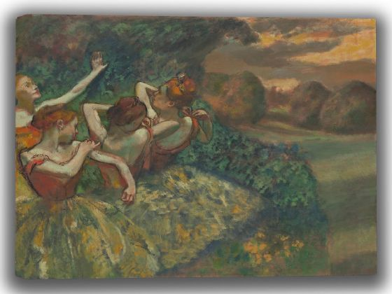Degas, Edgar: Four Dancers. Fine Art Canvas. Sizes: A4/A3/A2/A1 (003747)